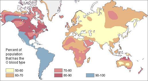 Blutgruppenverteilung Weltweit